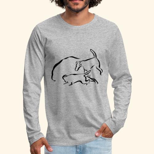 Foxit - musta - Miesten premium pitkähihainen t-paita