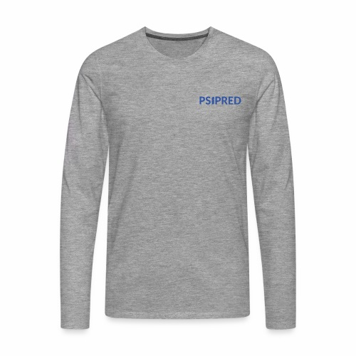 Logo in blue - Men's Premium Longsleeve Shirt