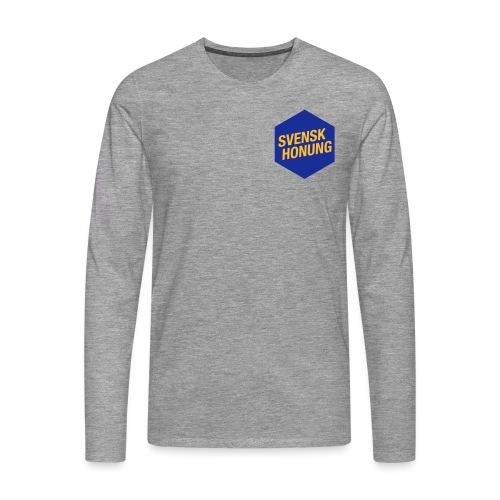 Svensk honung Hexagon Blå/Gul - Långärmad premium-T-shirt herr