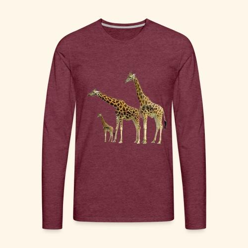 Giraffe Family wild Animals of Africa - Men's Premium Longsleeve Shirt
