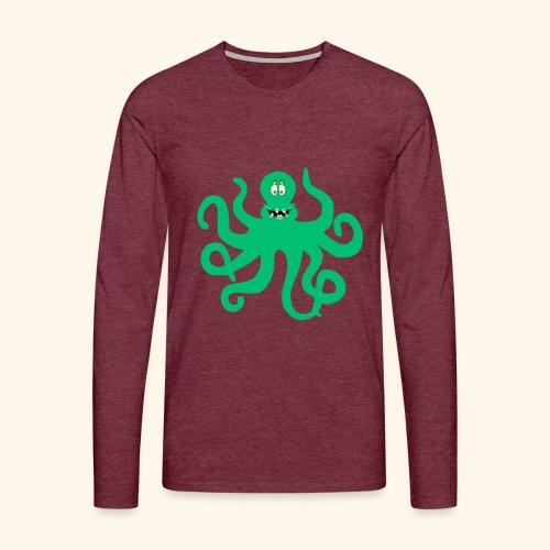 Sea Green Otopus with a goofy smile - Men's Premium Longsleeve Shirt