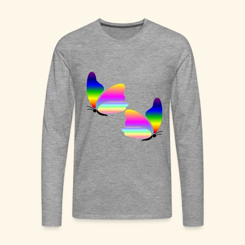 Rainbow Butterfly - Men's Premium Longsleeve Shirt