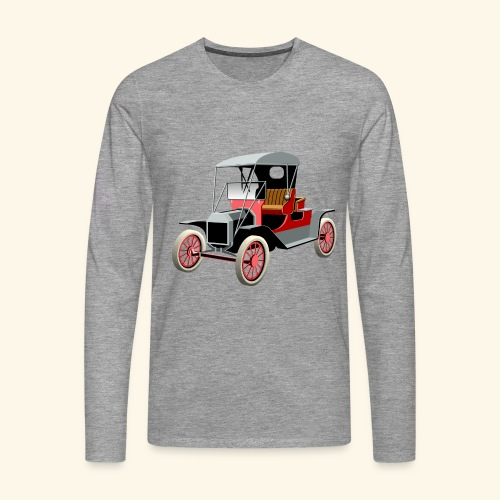 Vintage Car London to Brighton rally - Men's Premium Longsleeve Shirt