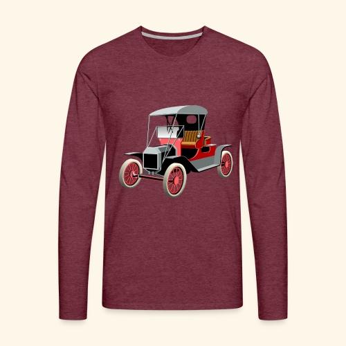 Vintage Car London to Brighton rally - Men's Premium Longsleeve Shirt