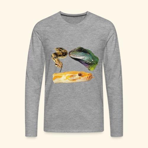 Snakes Reptiles & Iguana Lizard - Men's Premium Longsleeve Shirt