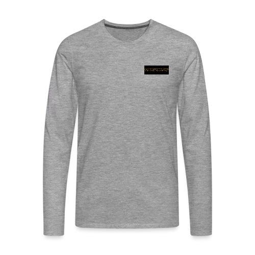 orange writing on black - Men's Premium Longsleeve Shirt