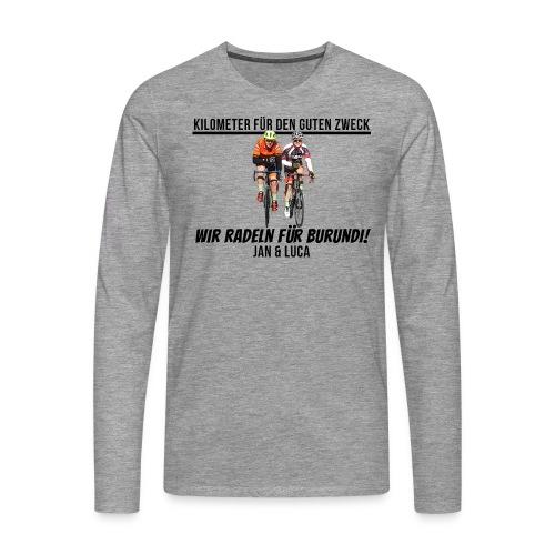 Jan und Luca für Burundi - Männer Premium Langarmshirt