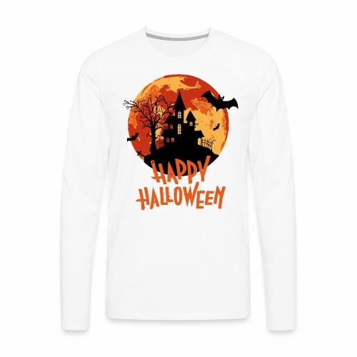 Bloodmoon Haunted House Halloween Design - Männer Premium Langarmshirt