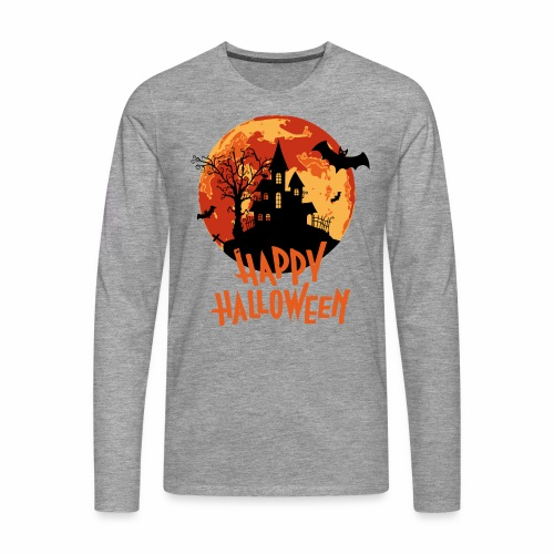 Bloodmoon Haunted House Halloween Design - Männer Premium Langarmshirt