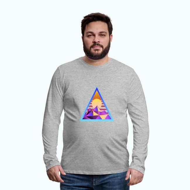 80s retro triangle