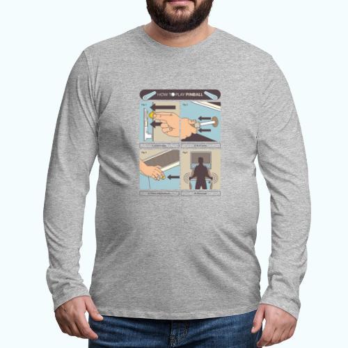 Vintage Pinball - Men's Premium Longsleeve Shirt