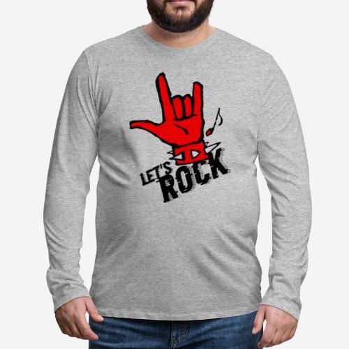 Rockmusik Metal - Männer Premium Langarmshirt