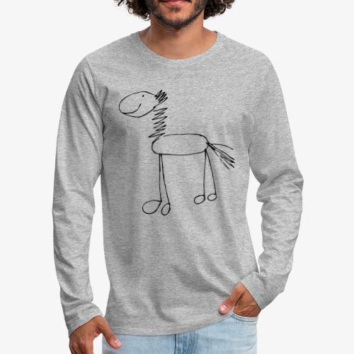 horse1 - Koszulka męska Premium z długim rękawem