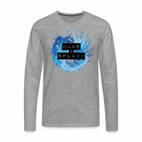Make a Splash - Aquarell Design in Blau - Männer Premium Langarmshirt