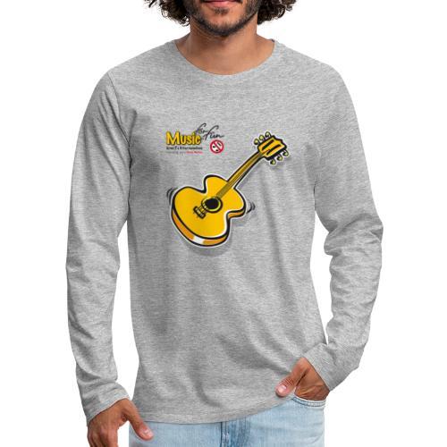 MusicForFun - heller Hintergrund - Männer Premium Langarmshirt