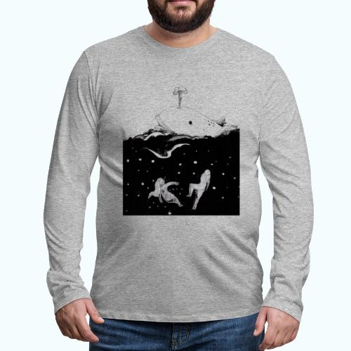 I LOVE WHALES real drawing - Men's Premium Longsleeve Shirt