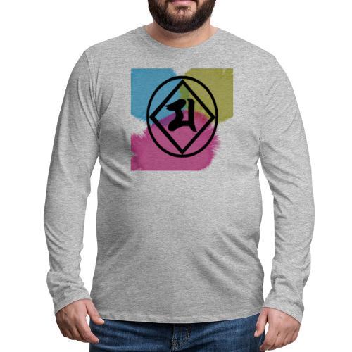 Logo Japones color - Camiseta de manga larga premium hombre