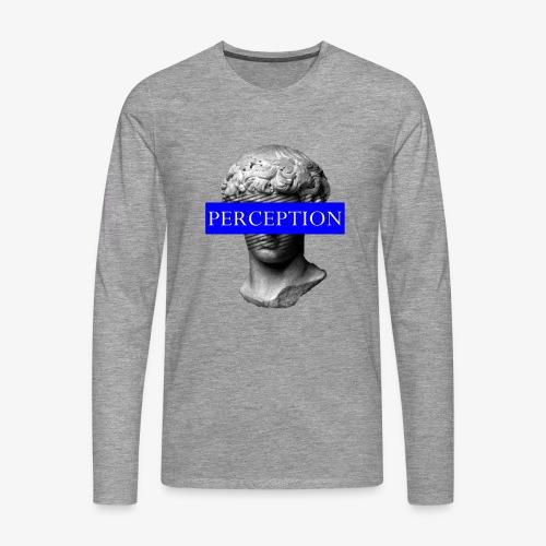 TETE GRECQ BLUE - PERCEPTION CLOTHING - T-shirt manches longues Premium Homme