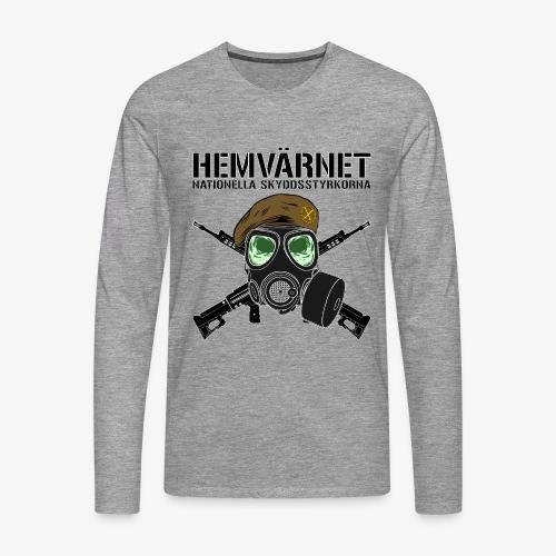 Hemvärnet - Skyddsmask 90 + Ak 4C - Långärmad premium-T-shirt herr