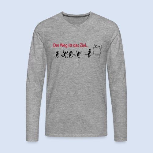 Der Weg ist das Ziel - Marathon - Männer Premium Langarmshirt