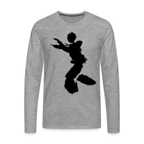 Wing Chun / Kung Fu Tusche Figur VEKTOR - Men's Premium Longsleeve Shirt