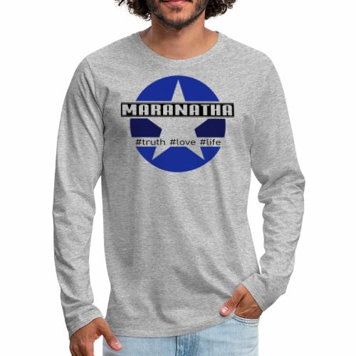maranatha blau-braun - Männer Premium Langarmshirt