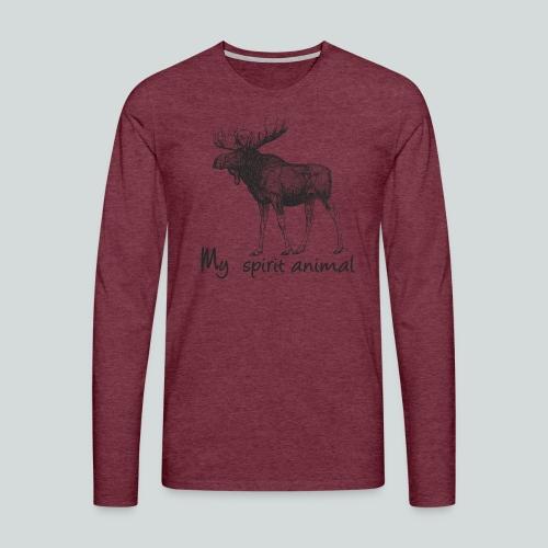 L'élan est mon animal totem - T-shirt manches longues Premium Homme