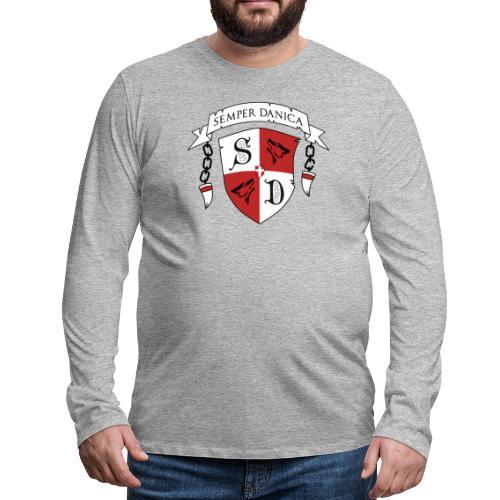 SD logo - sorte lænker - Herre premium T-shirt med lange ærmer