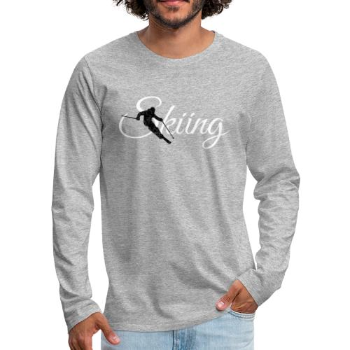 Skiing Skifahrer (Weiß) Wintersport Apres-Ski - Männer Premium Langarmshirt