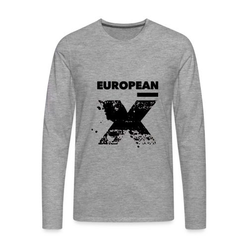 European X Black - Mannen Premium shirt met lange mouwen