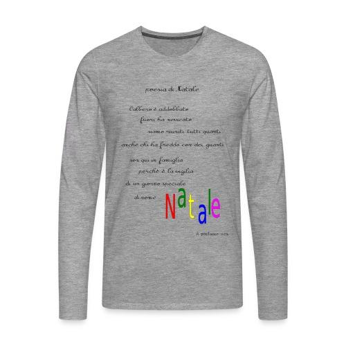 Poesia di Natale 2016 - Maglietta Premium a manica lunga da uomo