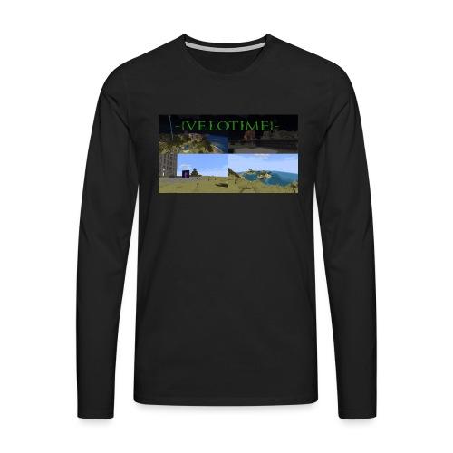 Velotime! - Långärmad premium-T-shirt herr