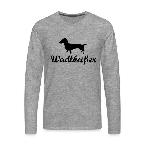 wadlbeisser_dackel - Männer Premium Langarmshirt