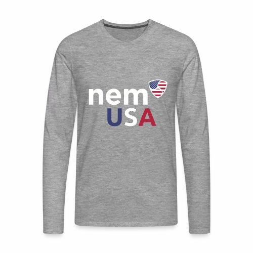 NEM USA white - Maglietta Premium a manica lunga da uomo
