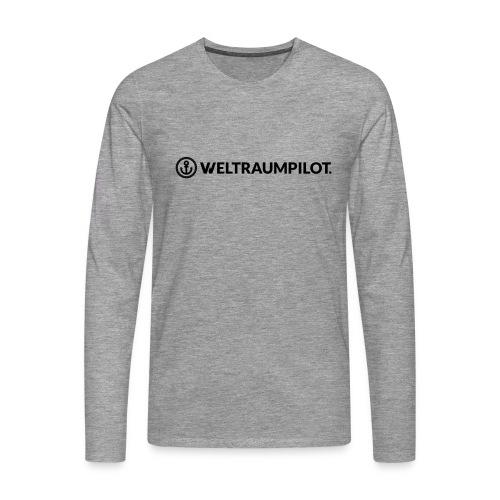 weltraumpilotquer - Männer Premium Langarmshirt