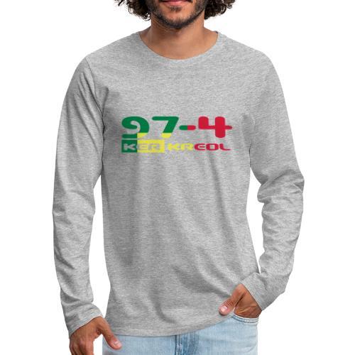 974 ker kreol Rastafari - T-shirt manches longues Premium Homme
