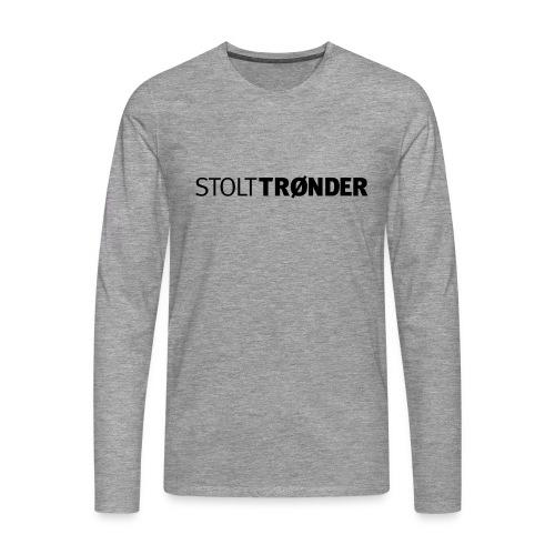 stolttronder logo - Premium langermet T-skjorte for menn
