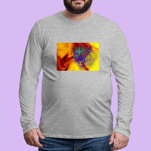 Leopardo surreale - Maglietta Premium a manica lunga da uomo