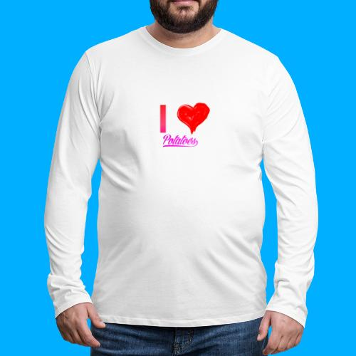 I Heart Potato T-Shirts - Men's Premium Longsleeve Shirt