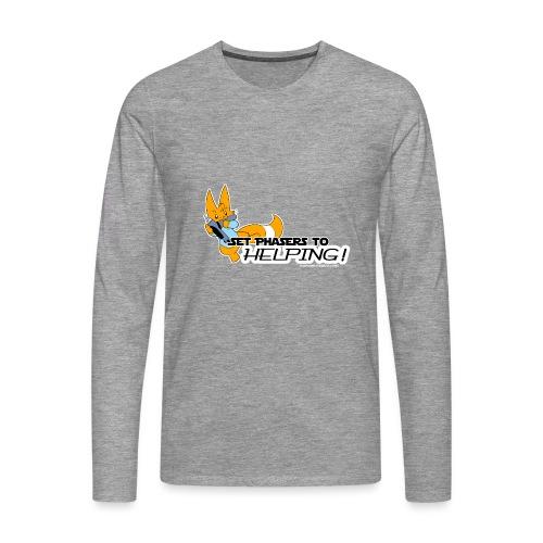 Set Phasers to Helping - Men's Premium Longsleeve Shirt
