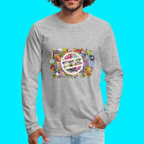 maglia logo doodle - Maglietta Premium a manica lunga da uomo