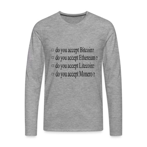 accepter - T-shirt manches longues Premium Homme