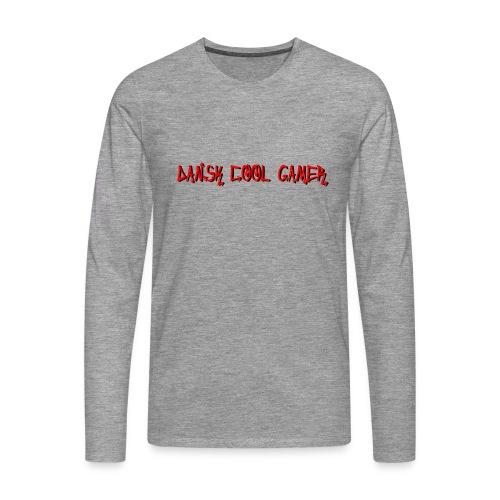 Dansk cool Gamer - Herre premium T-shirt med lange ærmer