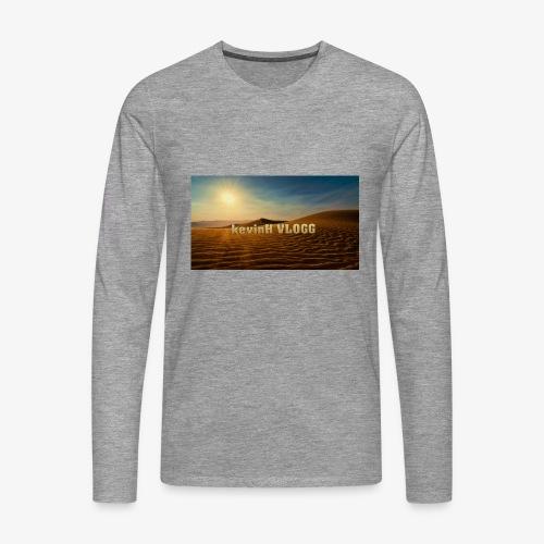vlogg logo 123 - Premium langermet T-skjorte for menn