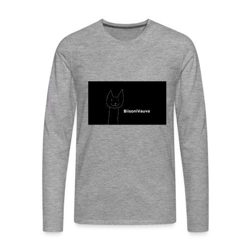 biisonivauva - Miesten premium pitkähihainen t-paita