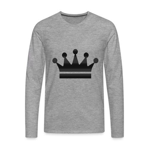 crown - Mannen Premium shirt met lange mouwen
