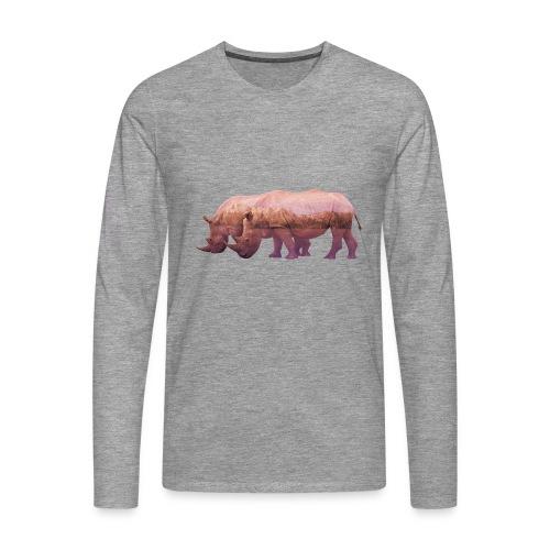 Nashorn Alpen - Männer Premium Langarmshirt