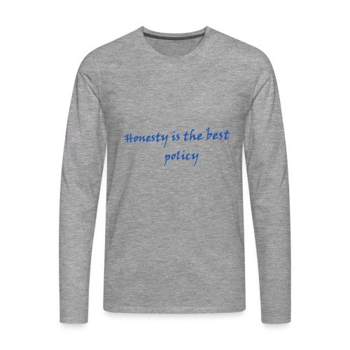 Proverbs in English - Men's Premium Longsleeve Shirt