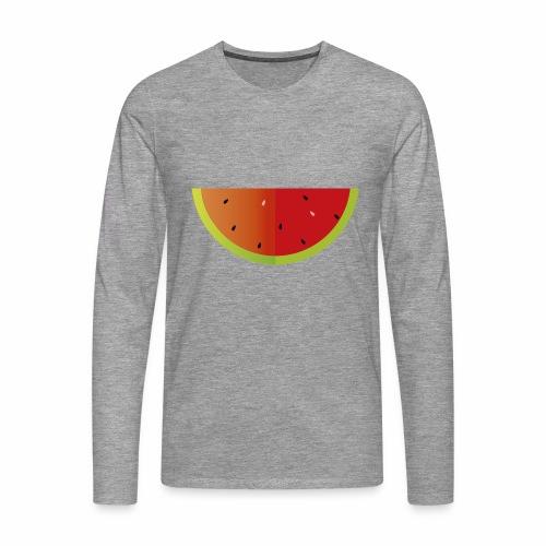 Sandia - Camiseta de manga larga premium hombre