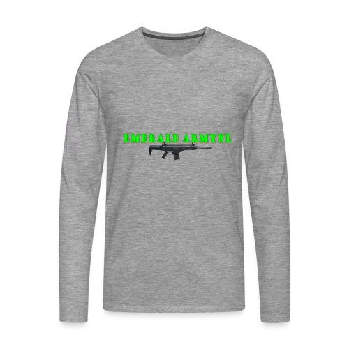 EMERALDARMYNL LETTERS! - Mannen Premium shirt met lange mouwen
